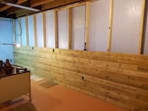 installation of Danish Pine planking 2