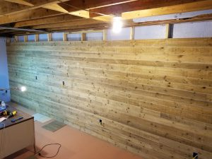 installation of Danish Pine planking 3