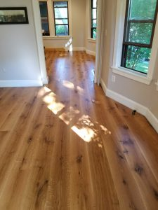 beautiful custom milled white oak hardwood floor 2