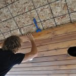installing a tongue and groove cedar ceiling 2