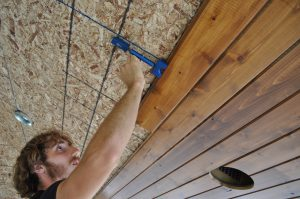 installing a tongue and groove cedar ceiling 7