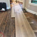 installing a custom milled white oak hardwood floor 2
